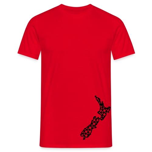 NZ Map Cross - Mens (14 Colours) - Men's T-Shirt