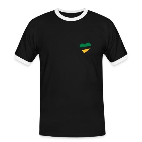 Men's BG&G Heart Slim Contrast T-Shirt - Men's Ringer Shirt