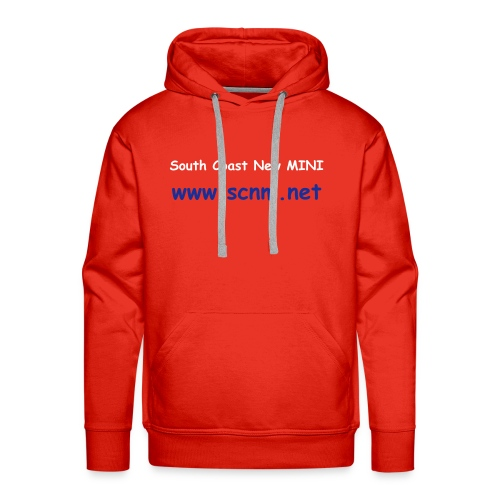 Unisex Hooded Sweatshirt (Red, Text Only) - Men's Premium Hoodie
