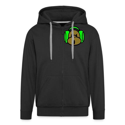 Monkii Busiiness - sort hættetrøje - Herre premium hættejakke