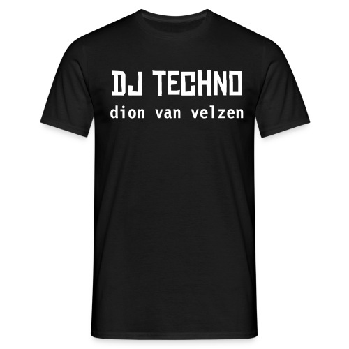 Button's dj techno - Mannen T-shirt