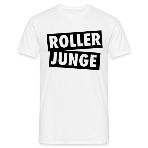 T-Shirt Roller Junge, weiß - Männer T-Shirt