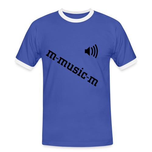 m-music-m bi color bleu - T-shirt contrasté Homme