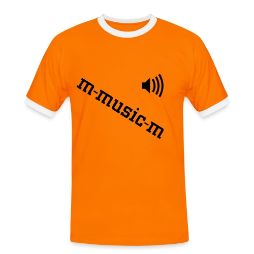 m-music-m bi color orange - T-shirt contrasté Homme