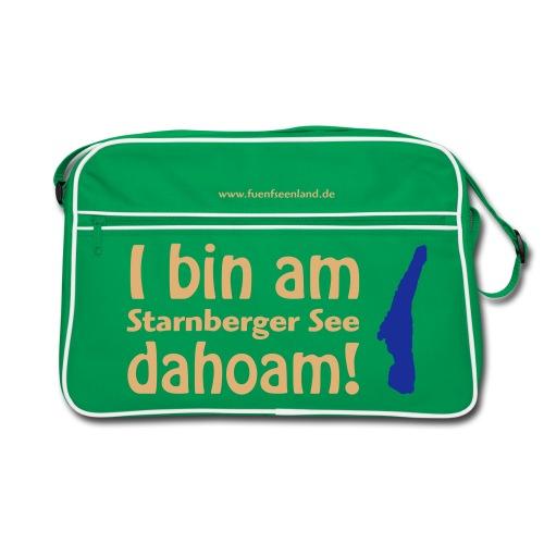 I bin am Starnberger See dahoam (Druck: 2farbig) - Retro Tasche
