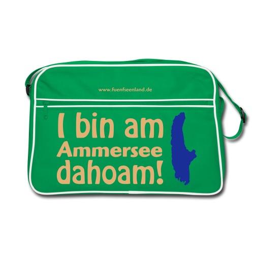 I bin am Ammersee dahoam (Druck: 2farbig) - Retro Tasche
