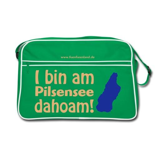 I bin am Pilsensee dahoam (Druck: 2farbig) - Retro Tasche