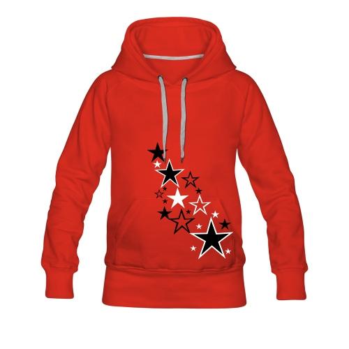 starssss - Felpa con cappuccio premium da donna