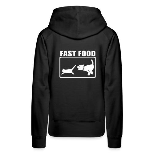 fast food - Felpa con cappuccio premium da donna