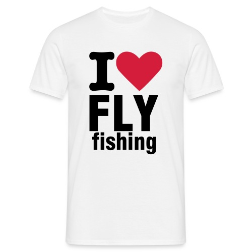 iloveflyfishing white - T-shirt herr