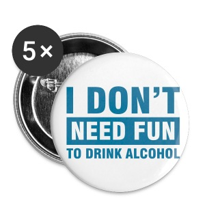 Alcohol Badge - Buttons large 56 mm