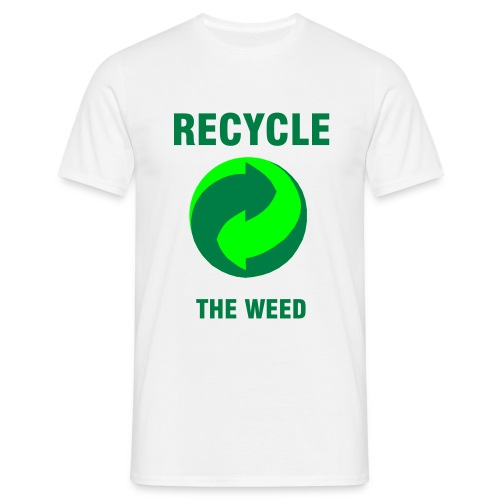 Recycle the weed! - T-shirt herr
