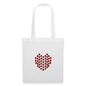 Strawberry Heart Tote Bag - Tote Bag
