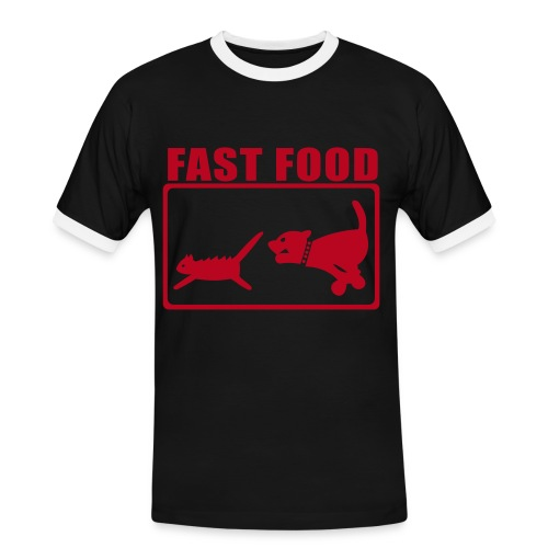 fast food  - Men's Ringer Shirt