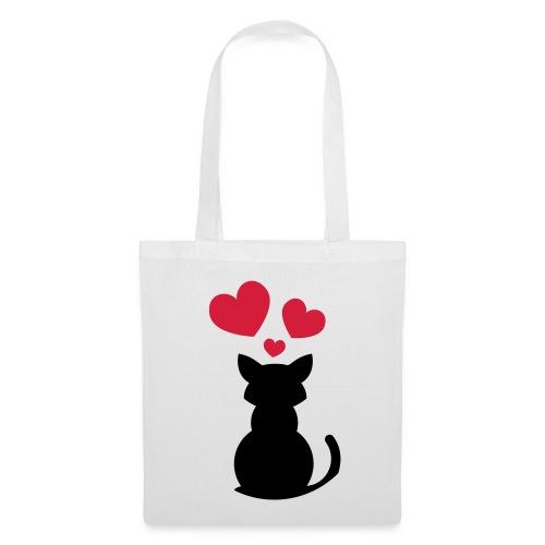 Cat in love tote bag - Tote Bag