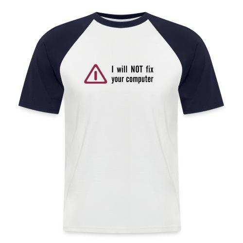 Computer Supporter - Männer Baseball-T-Shirt