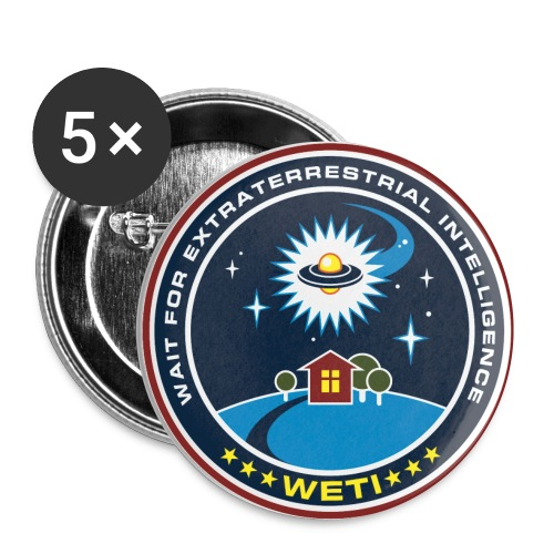 WETI Badges - Buttons small 1''/25 mm (5-pack)