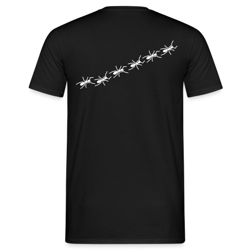 Ants Line - black shirt - Männer T-Shirt