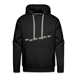 Ants Line - black kapu glow in the dark - Männer Premium Hoodie