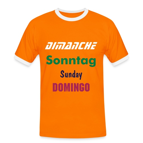 Weekly Sunday - T-shirt contrasté Homme