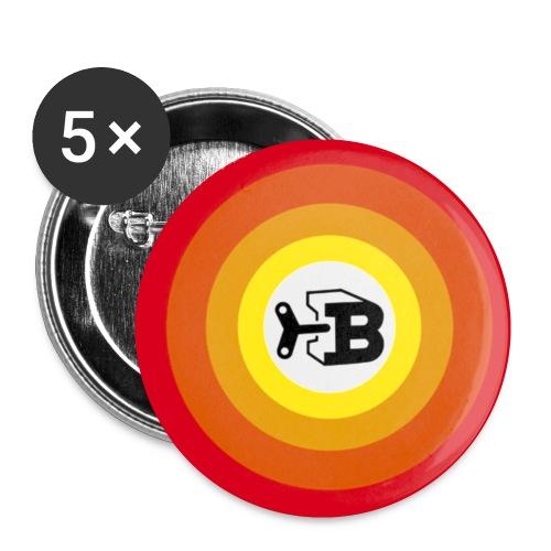 Biller Button - Buttons klein 25 mm (5er Pack)