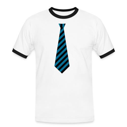 Slips tee- - Kontrast-T-skjorte for menn
