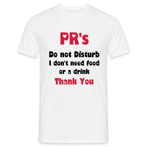 PR warning - Men's T-Shirt