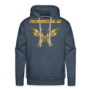 Hood with tribal butterfly - Premiumluvtröja herr