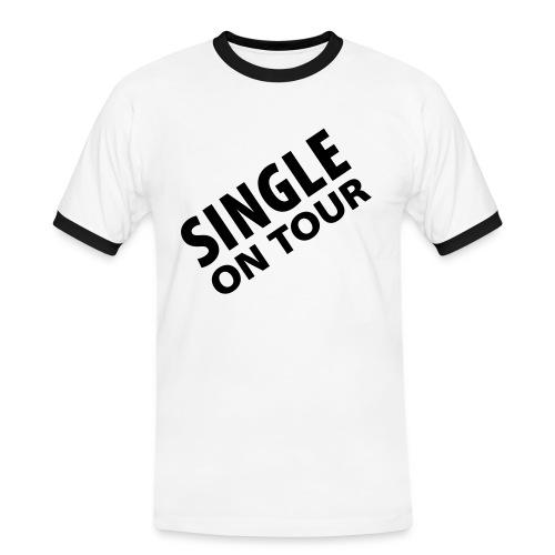Mens slim singel T-shirt - Kontrast-T-shirt herr
