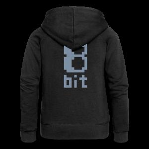 8bit, backsilverprint matt/+metallic - Women's Premium Hooded Jacket