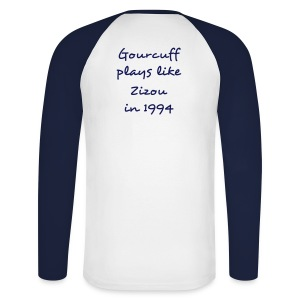 The Gourcuff / Zizou Blue and White - T-shirt baseball manches longues Homme