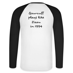 The Gourcuff / Zizou Black and White - T-shirt baseball manches longues Homme