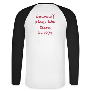 The Gourcuff / Zizou Black and White Red - T-shirt baseball manches longues Homme