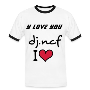 y love you dj.ncf - T-shirt contraste Homme