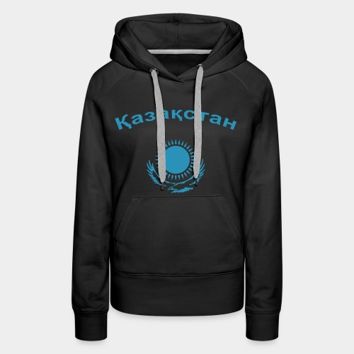 Казахстан (girl) !! Flockdruck !! - Frauen Premium Hoodie