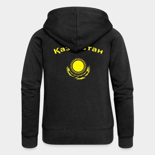 Казахстан (girl) !! Flockdruck !! - Frauen Premium Kapuzenjacke