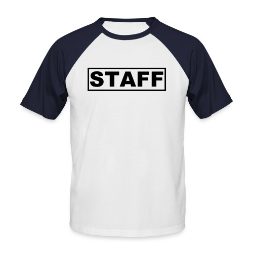 staff - Men's Baseball T-Shirt