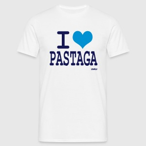 Blanc i love pastaga T-shirts (m. courtes) - T-shirt Homme