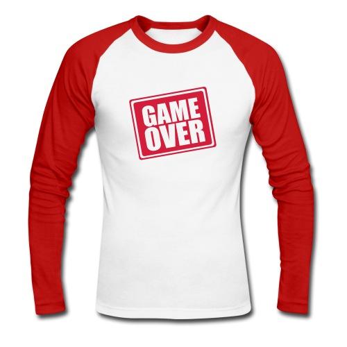 game over - Men's Long Sleeve Baseball T-Shirt