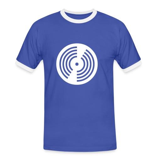 Vinyl - Männer Kontrast-T-Shirt