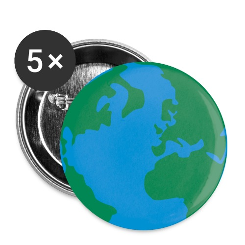 earth - buttons - Buttons groß 56 mm