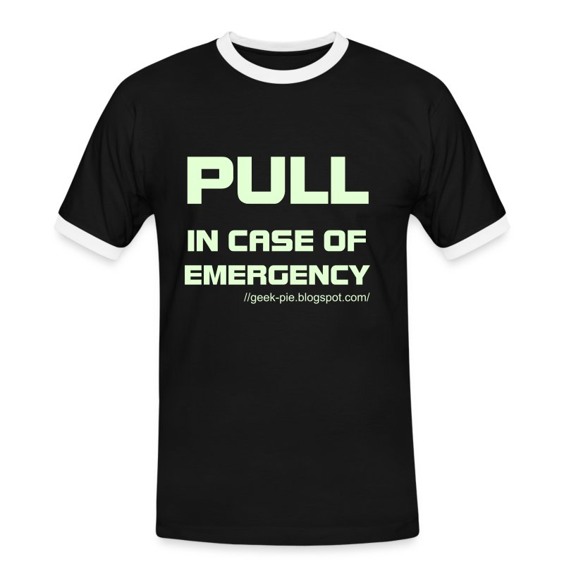Pull - Black Glow in the dark - Men's Ringer Shirt
