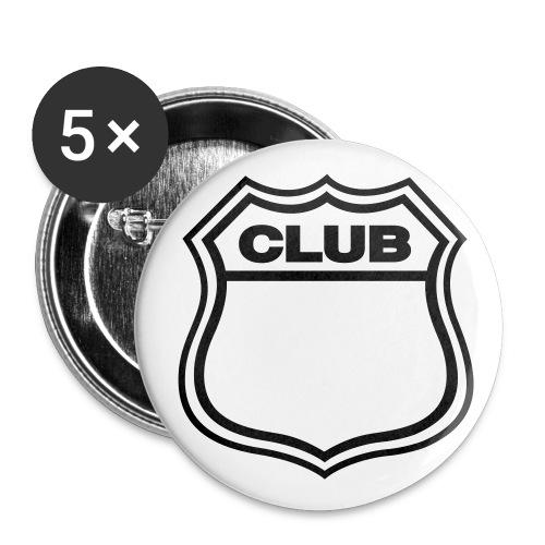 collection 1 - Paquete de 5 chapas pequeñas (25 mm)