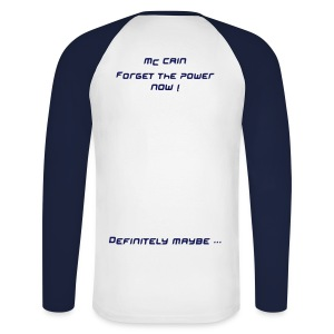 The Mc Cain Forget The Power Blue and White - T-shirt baseball manches longues Homme
