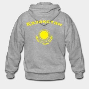 Казахстан !! Flockdruck !! - Männer Premium Kapuzenjacke