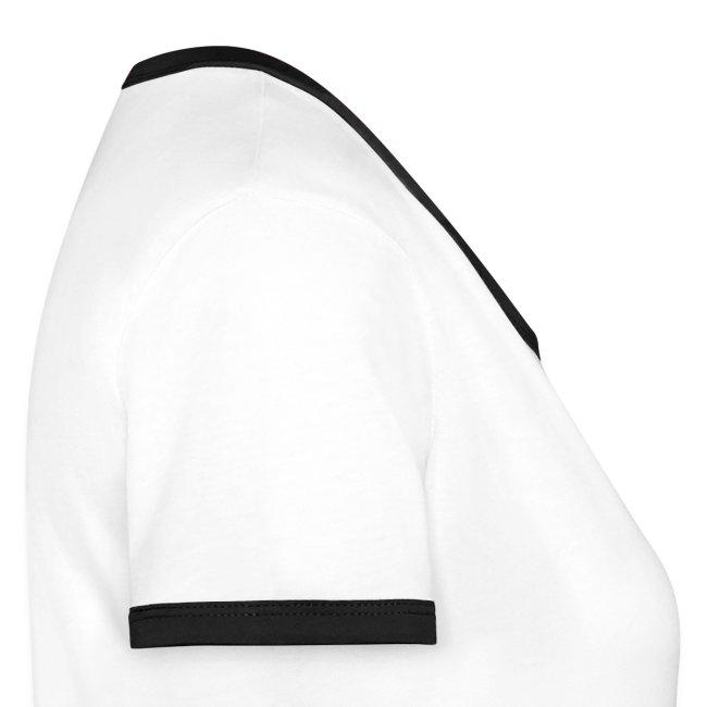 "t.shirt femme Slim Contrast ""get smart"" recto-verso"