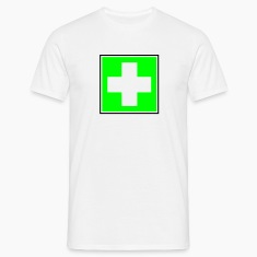 White First Aid Cross Men's Tees (short-sleeved)