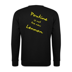 The Poutine is not the new lennon sweat black yellow - Sweat-shirt Homme