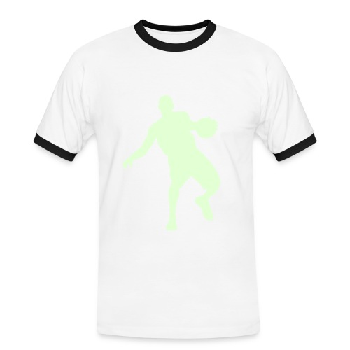 Basketballer glow in the dark - Mannen contrastshirt