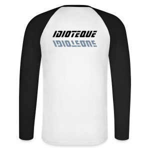 Idioteque black and white mec - T-shirt baseball manches longues Homme